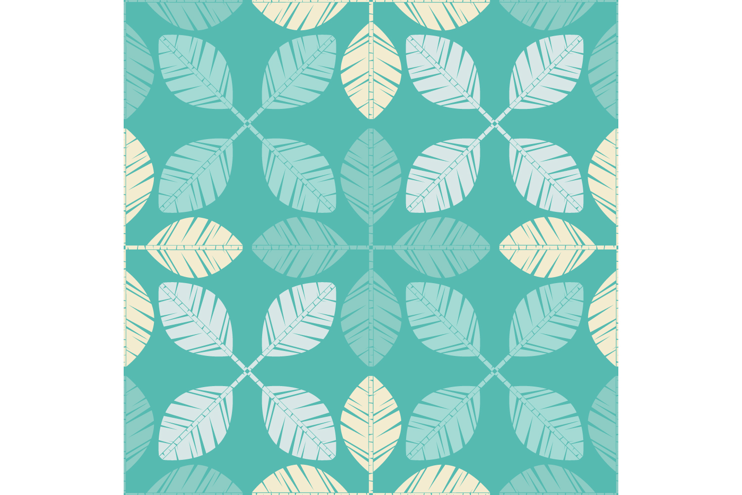 Decorative leaves. Set of 10 seamless patterns. example image 6