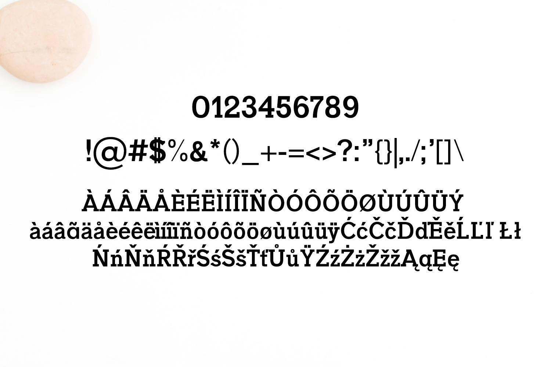 Naava A Slab Serif Typeface example image 4