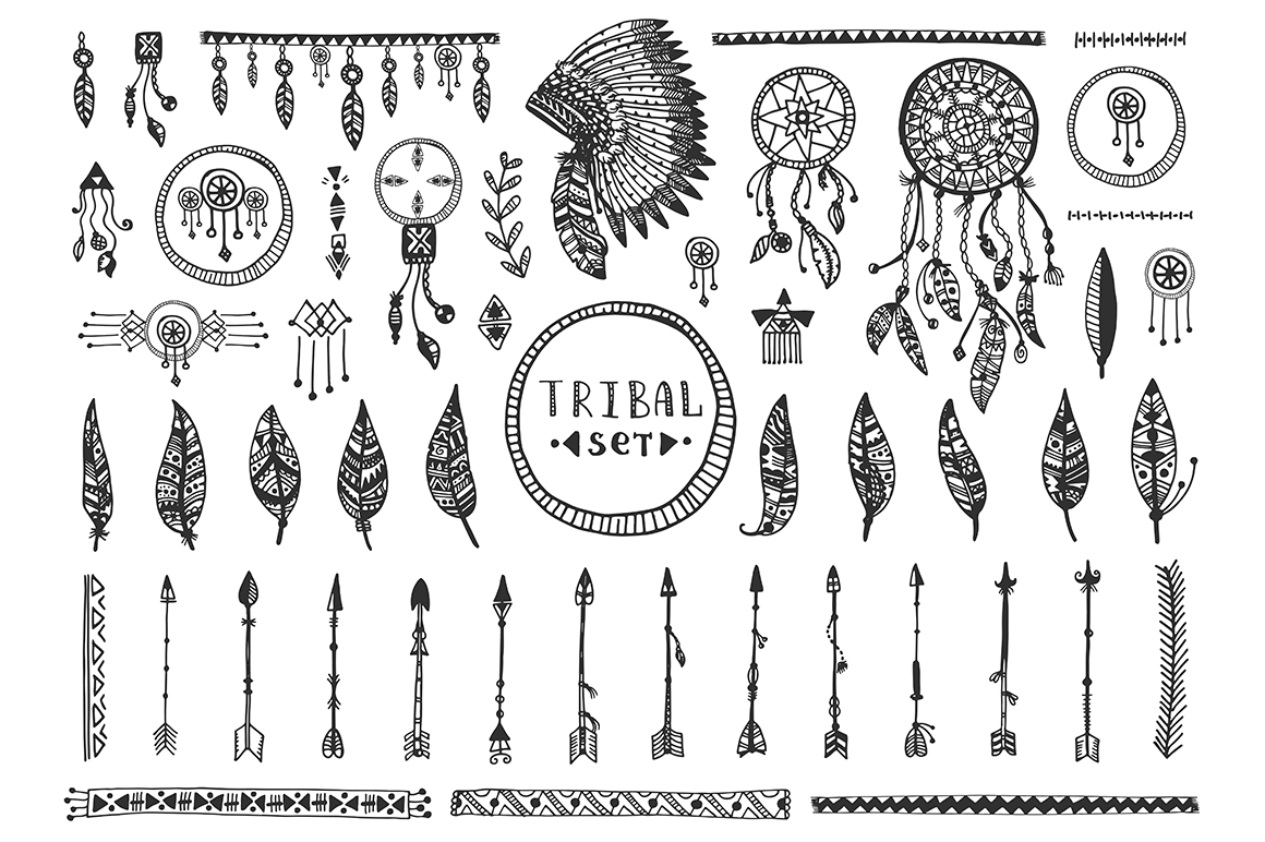 TRIBAL Vector Elements Collection example image 3
