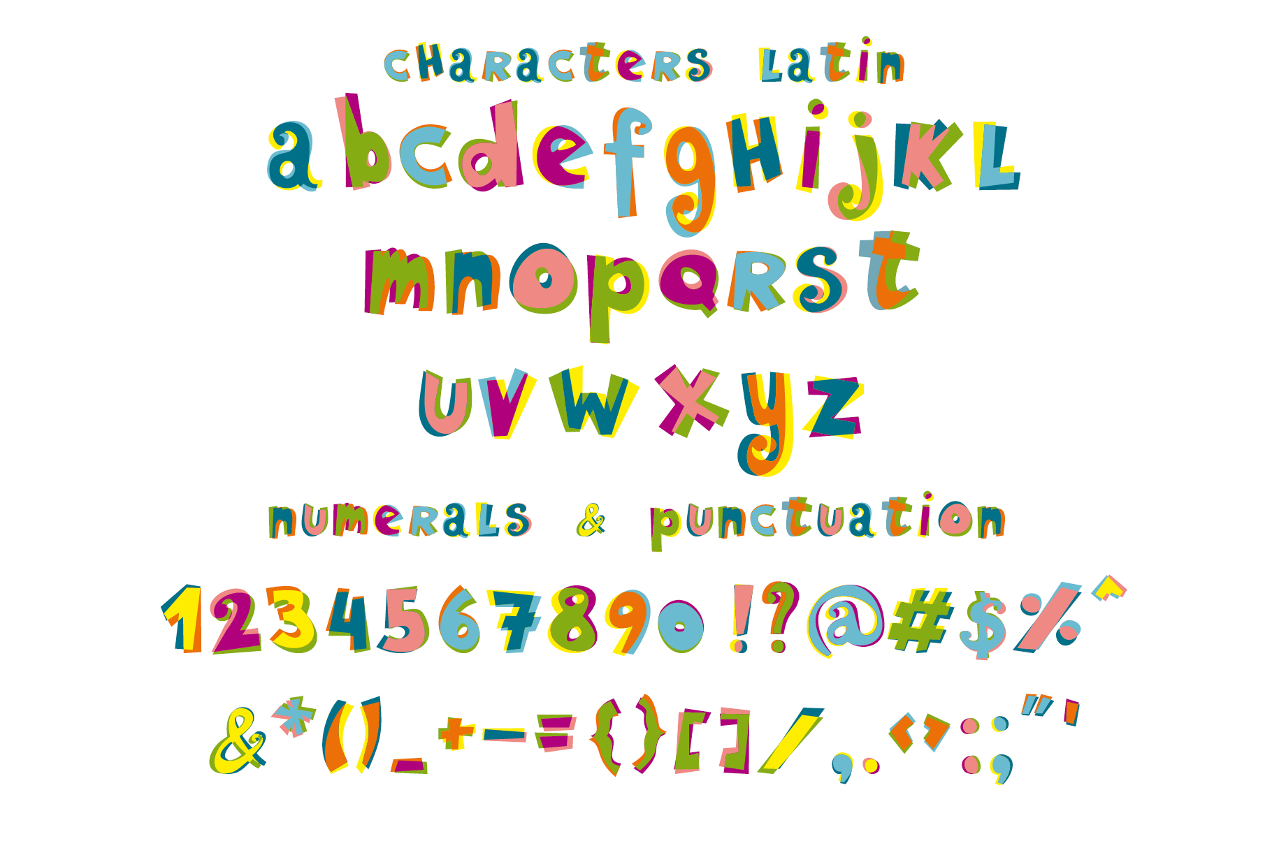 Ziggy color font example image 2
