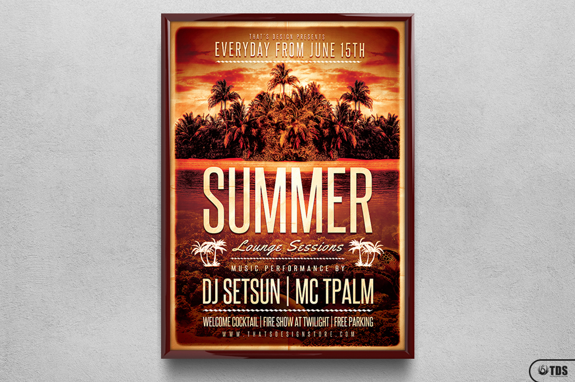 Summer Lounge Flyer Template V2 example image 6
