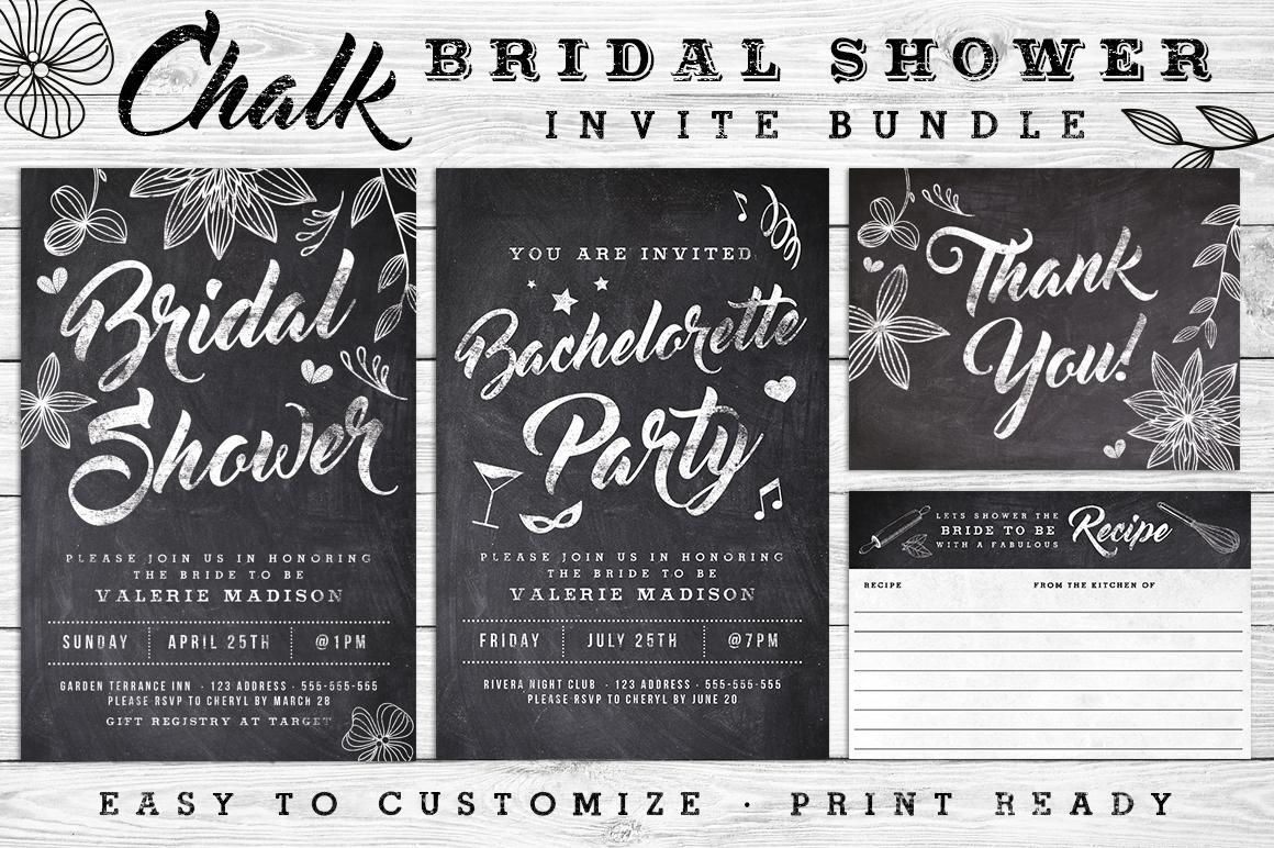 Massive Wedding Invite Bundle Flyer Save Date Bridal Shower  example image 9
