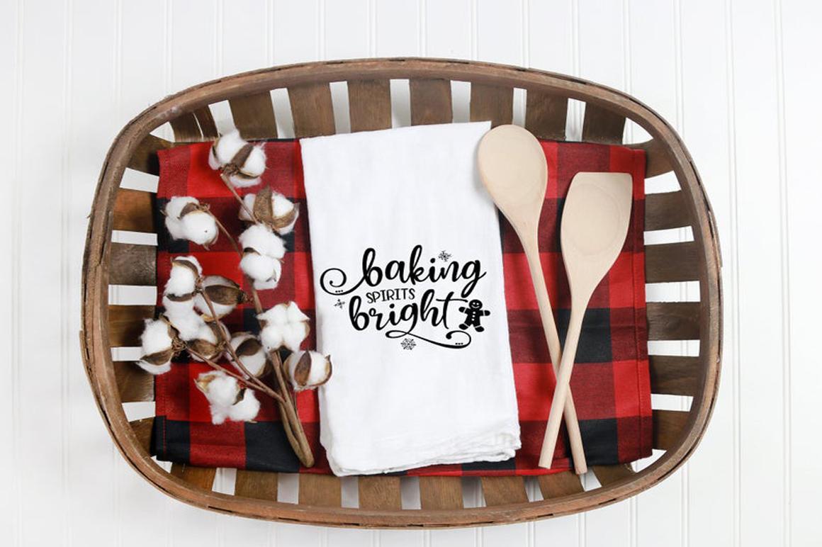 Christmas Baking SVG - Baking Spirits Bright example image 2