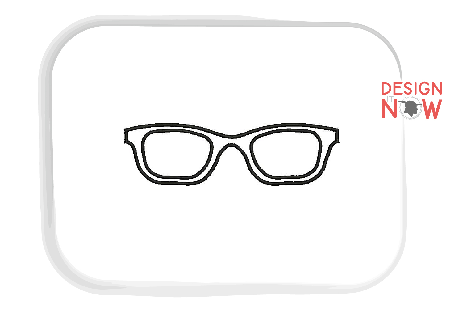 Glasses Applique Embroidery Design, Sunglasses Embroidery example image 3