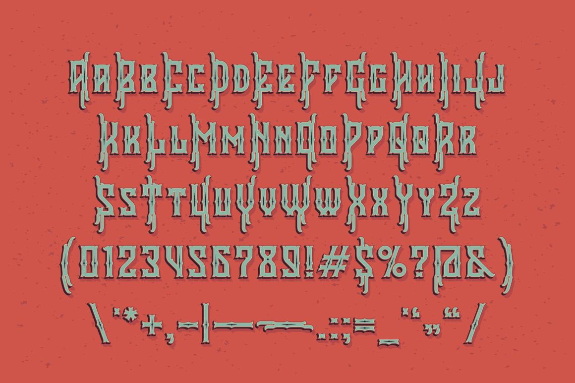 Falchion Edge font example image 3