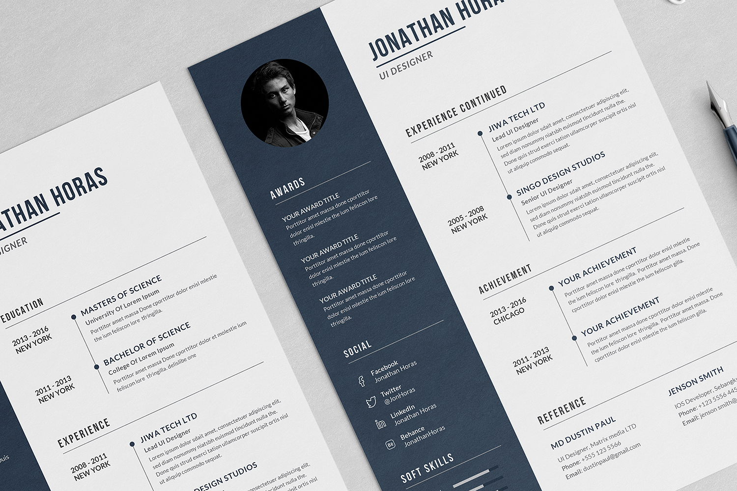 Jonathan Resume with Cover Letter Professional Template example image 4
