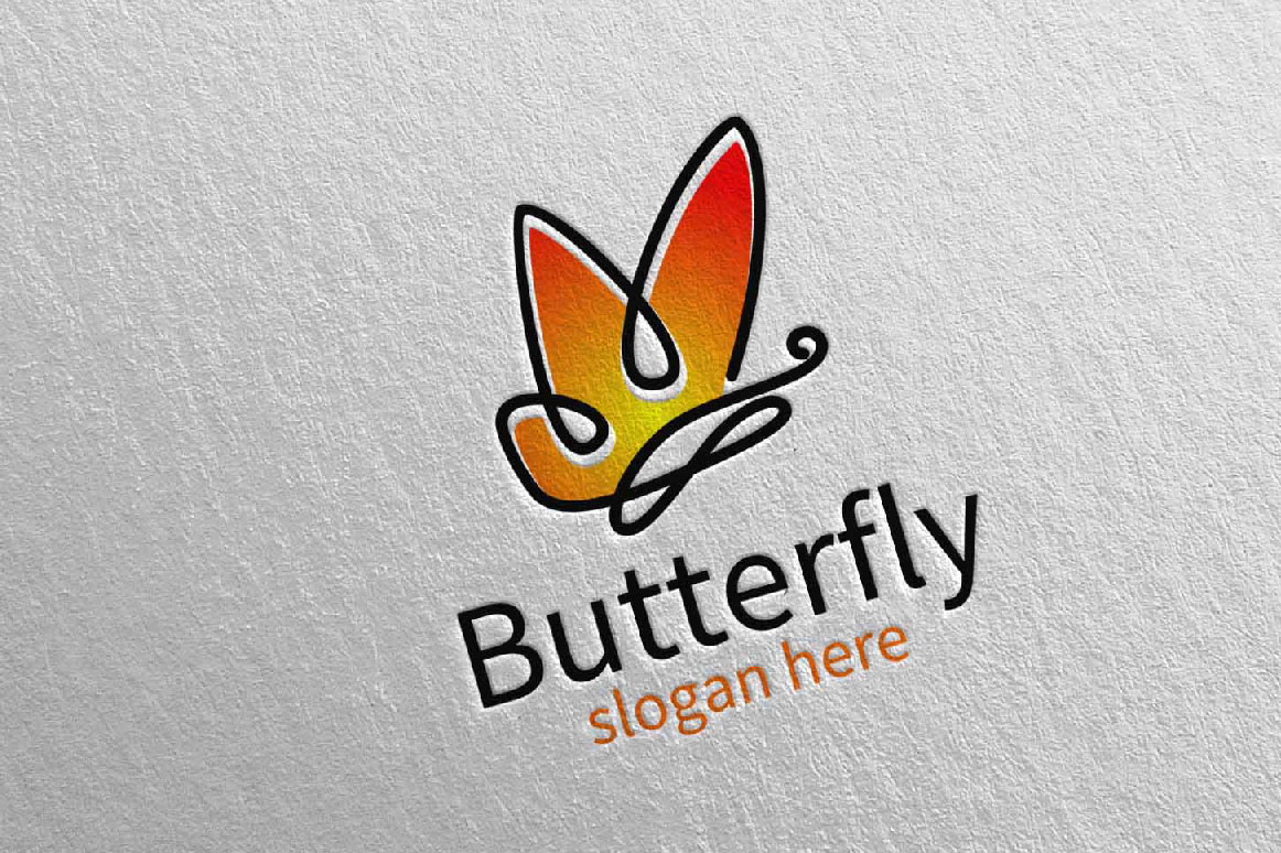 Butterfly Logo vol 15 example image 1