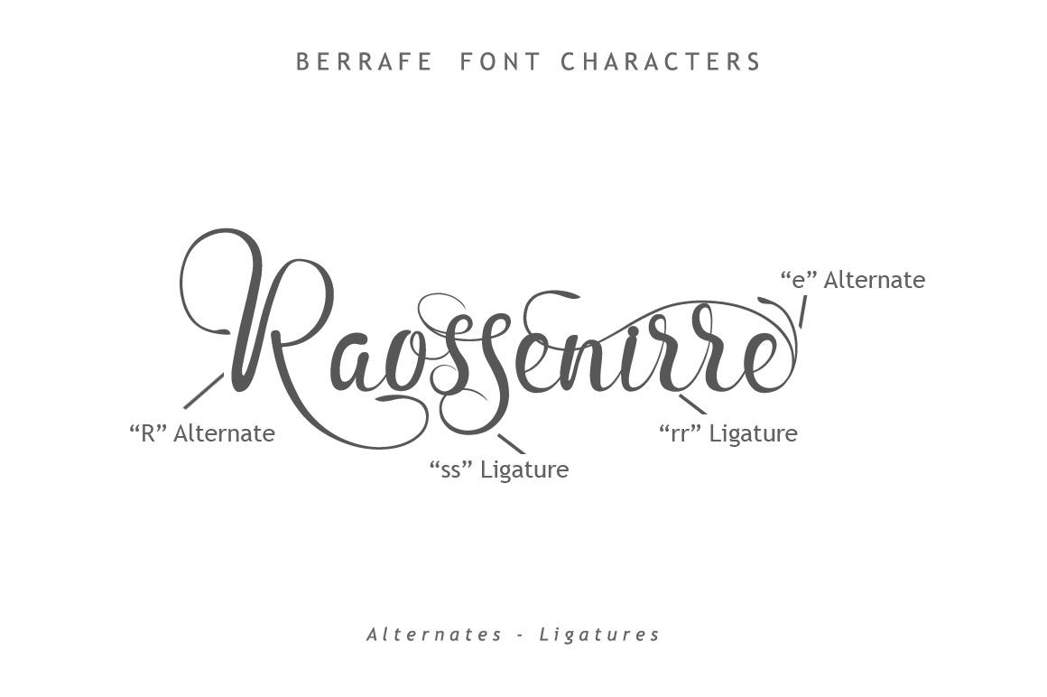 Berrafe Font example image 8