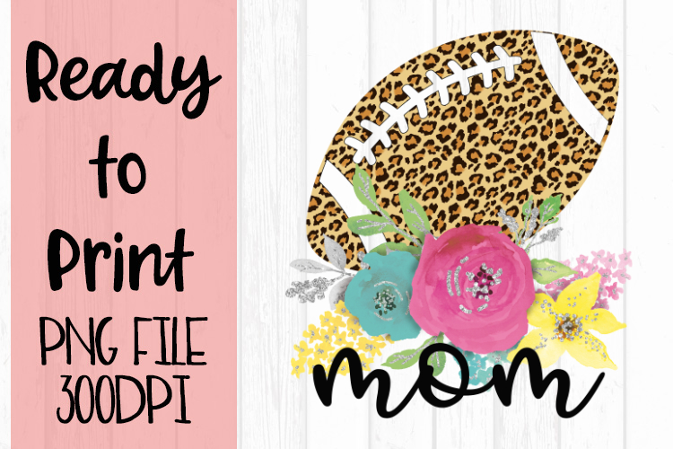 Leopard Football Mom Ready to Print example image 1