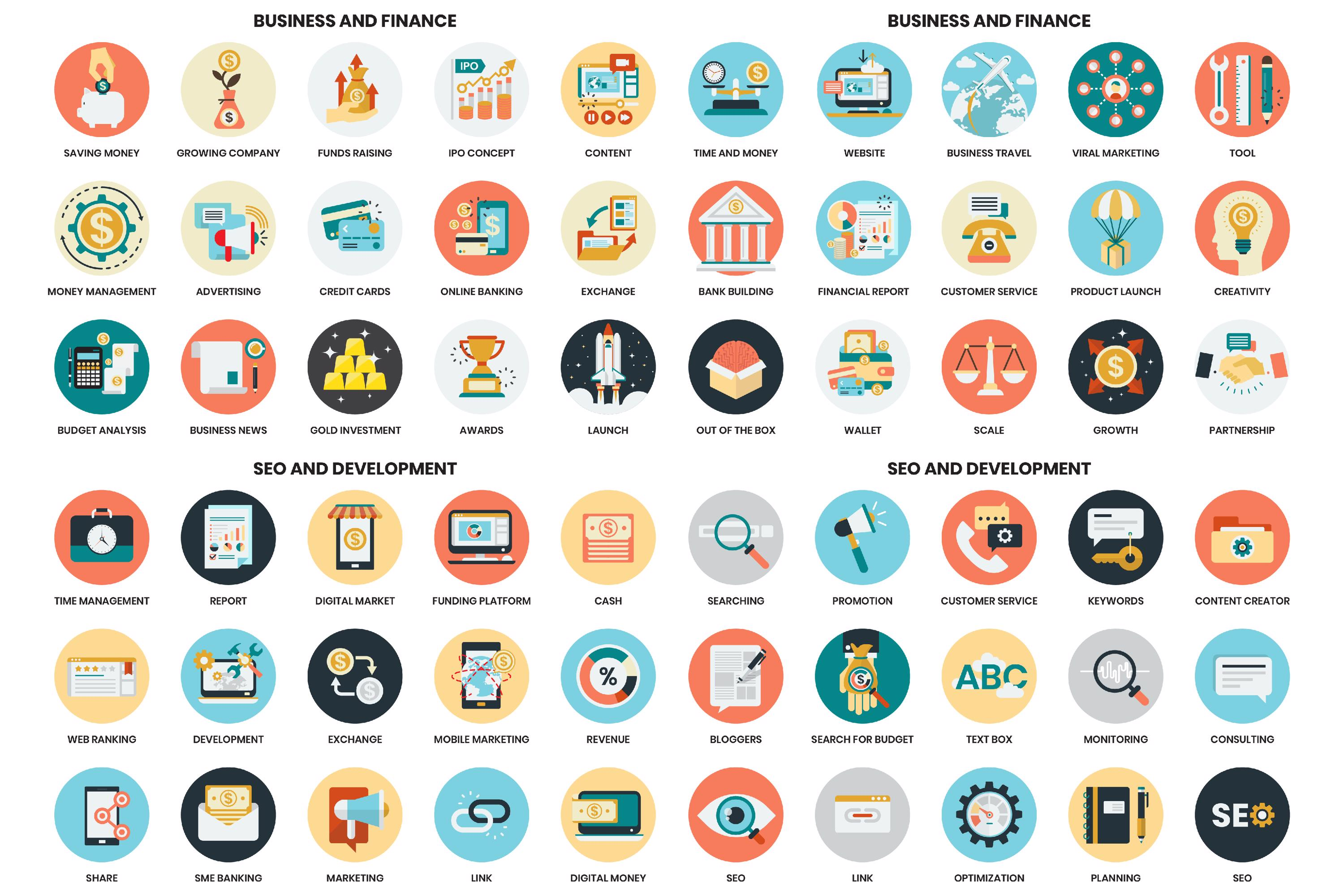 1155 PERFECT ICONS SET example image 5