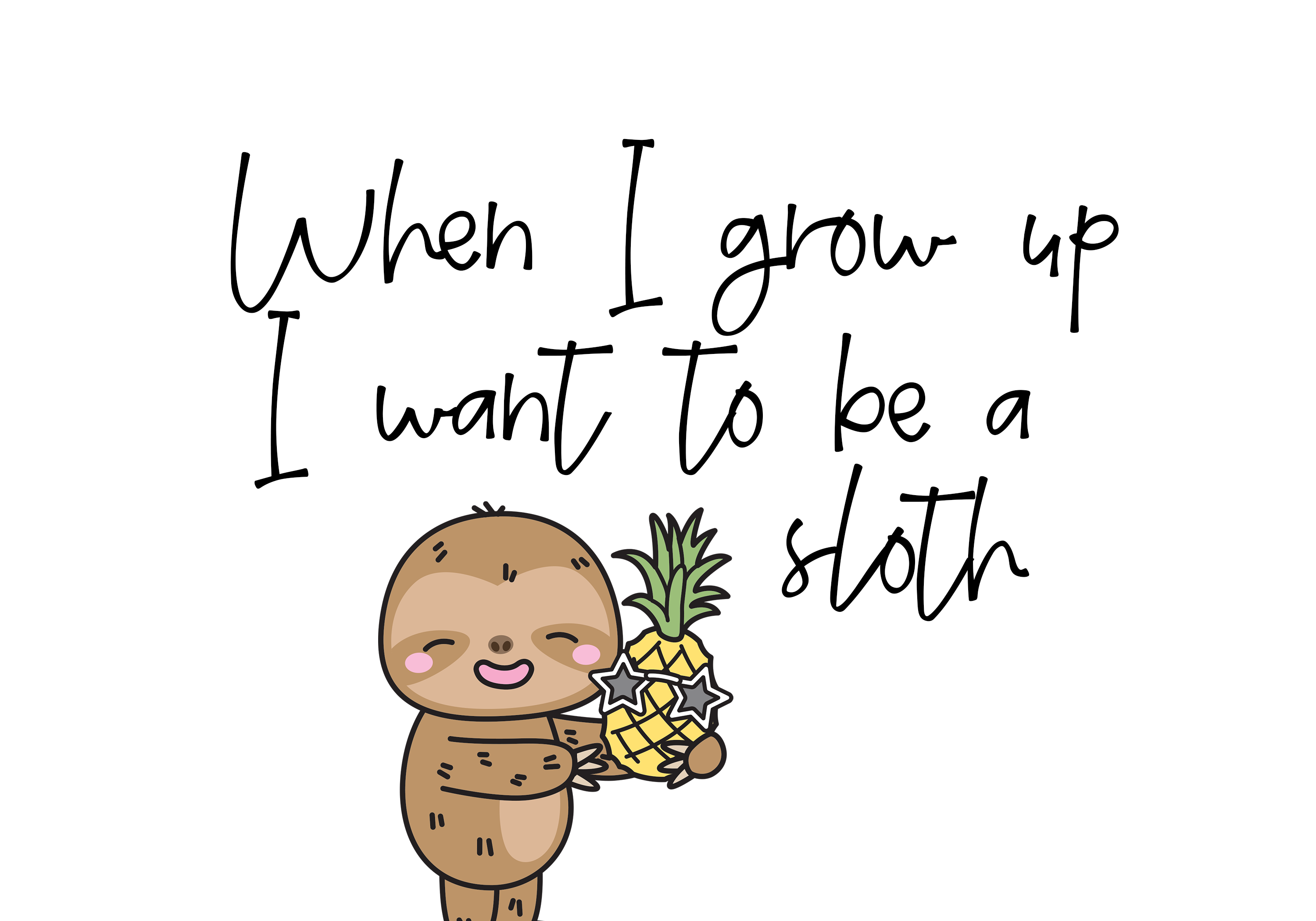 Sloth Life - Handwritten Script Font example image 3