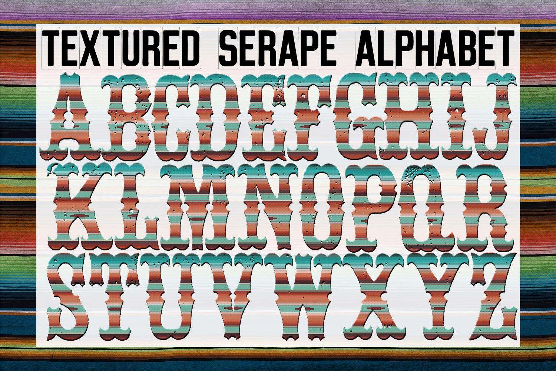 Textured Serape Alphabet Sublimation Digital Download example image 1