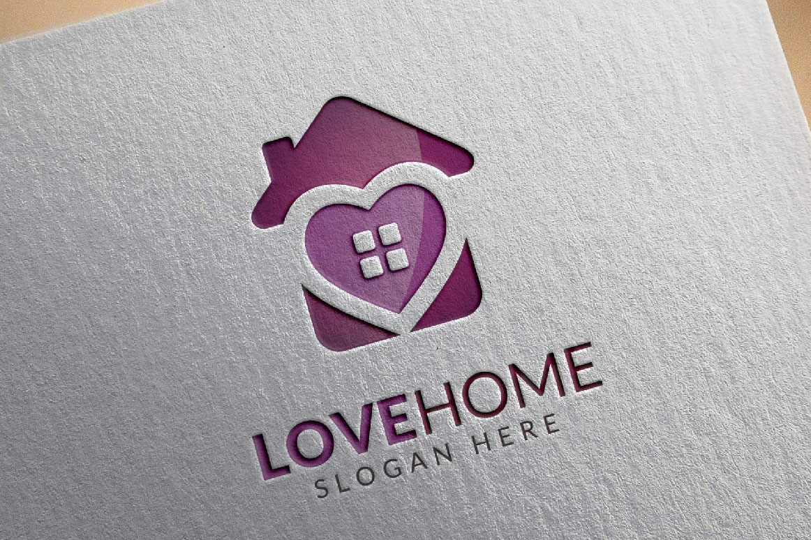Love home logo, real estate logo example image 6