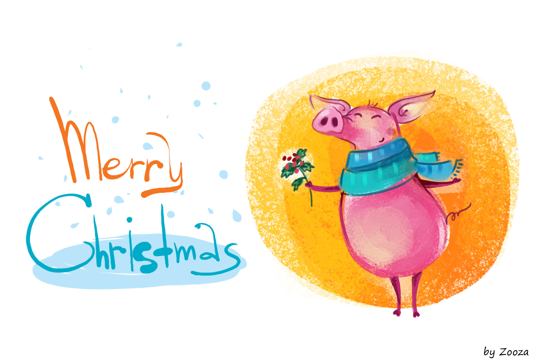 Piggy New Year - illustrations example image 2