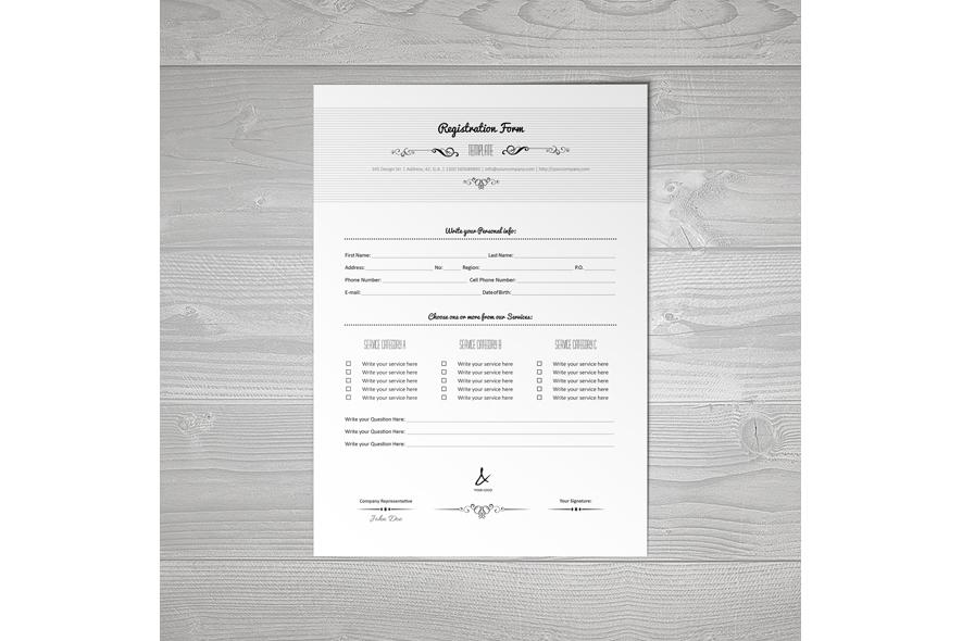 Registration Form Template v5 example image 3