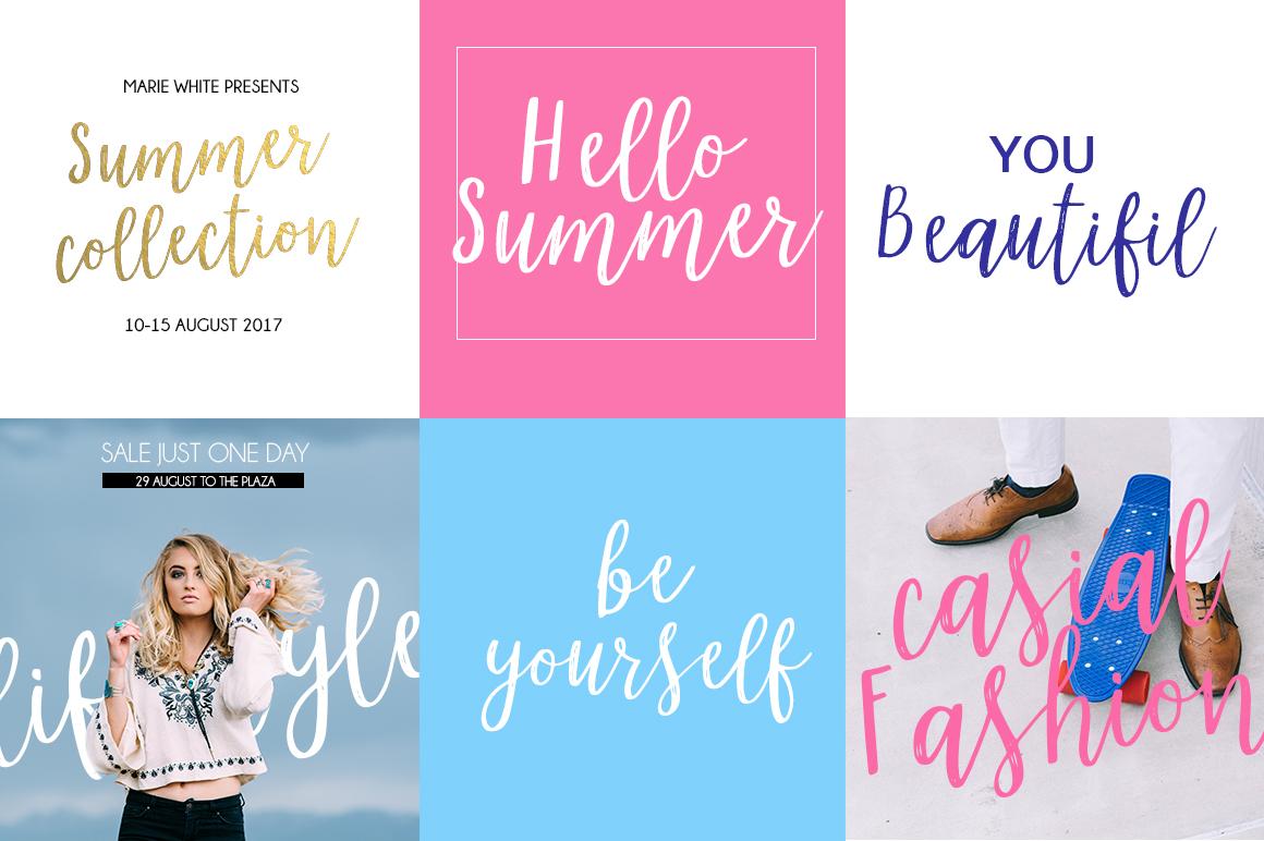 Marmelade summer font example image 2