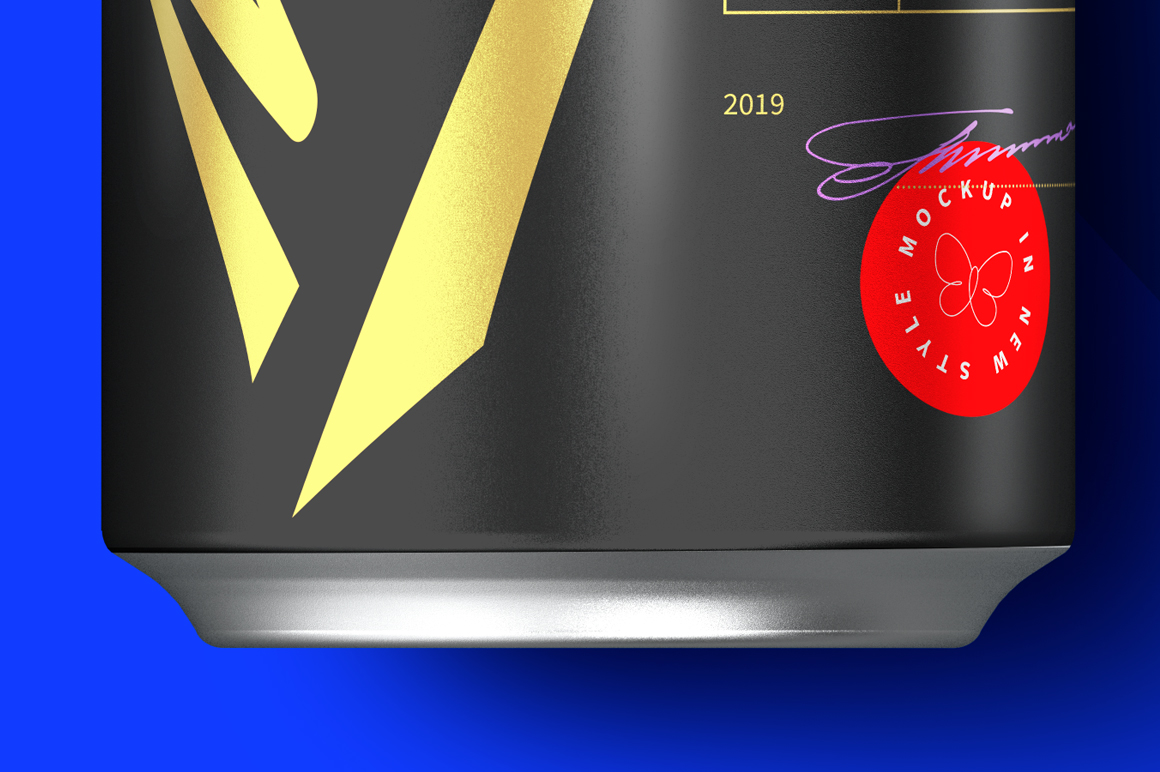 500ml Black Aluminum Can Mockup example image 6