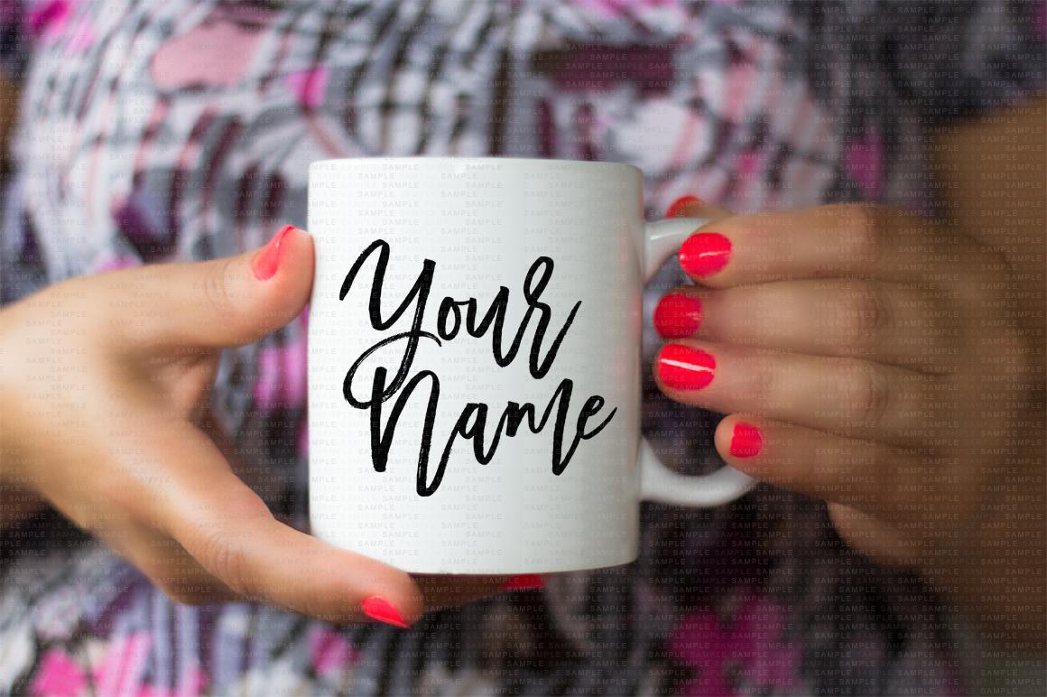 Hands Holding Mug Mockup Bundle example image 2