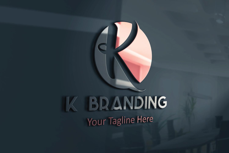 K letter circle logo example image 3
