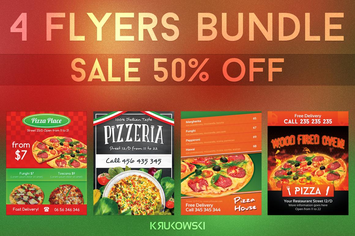 Pizzeria Flyers Bundle example image 1
