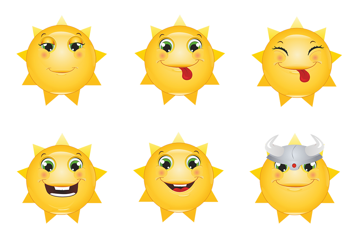 Emoticons Sun example image 11