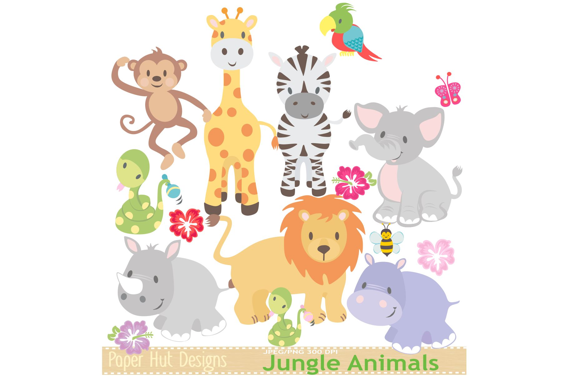 Jungle Animals Clipart example image 2