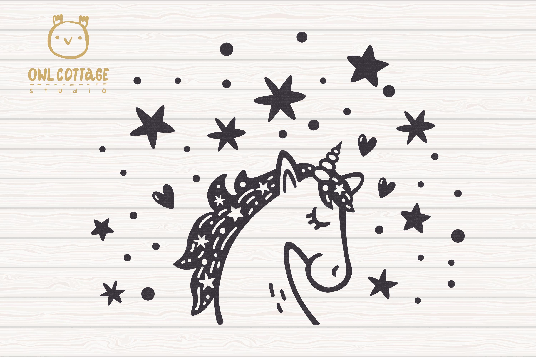 Valentine Unicorn Svg, Be My Unicorn Cut File, Valentines Da example image 3