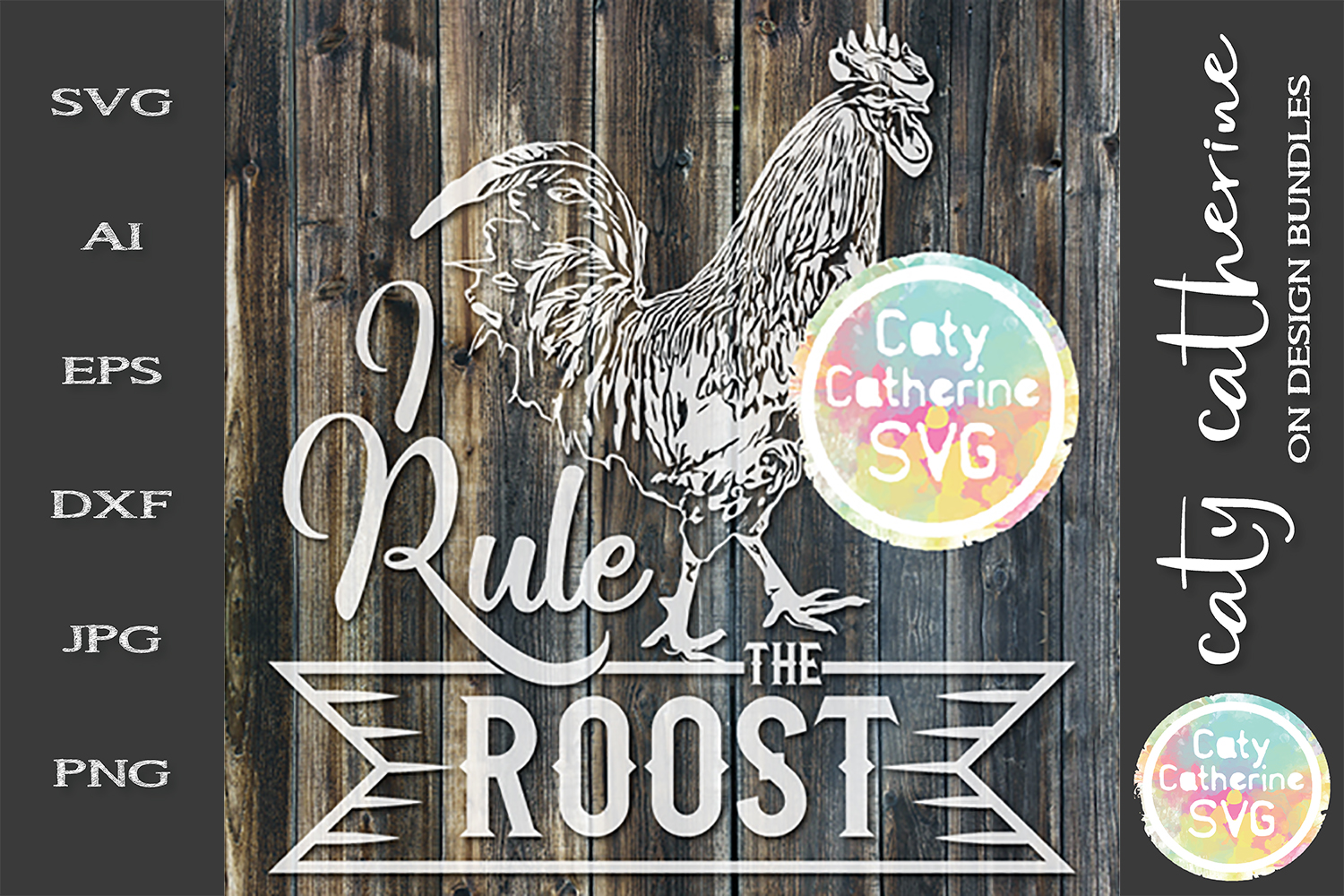 I Rule The Roost I Rule The Rooster Couples Matching SVG example image 3