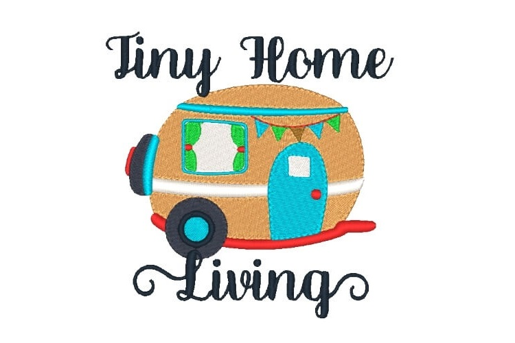 Tiny Home Machine Embroidery Design Camping Design 6 Sizes example image 1