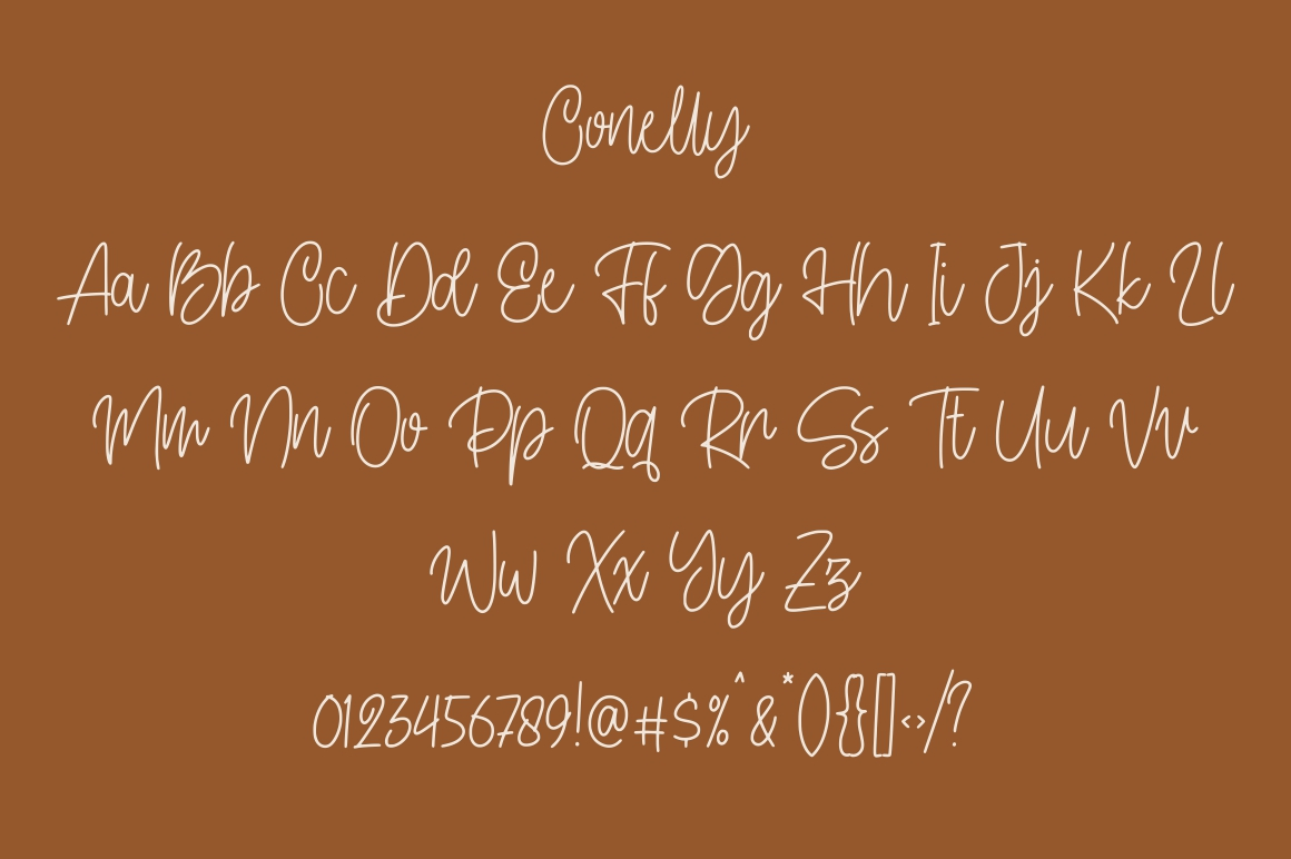 Conelly - Handwritten Font example image 8