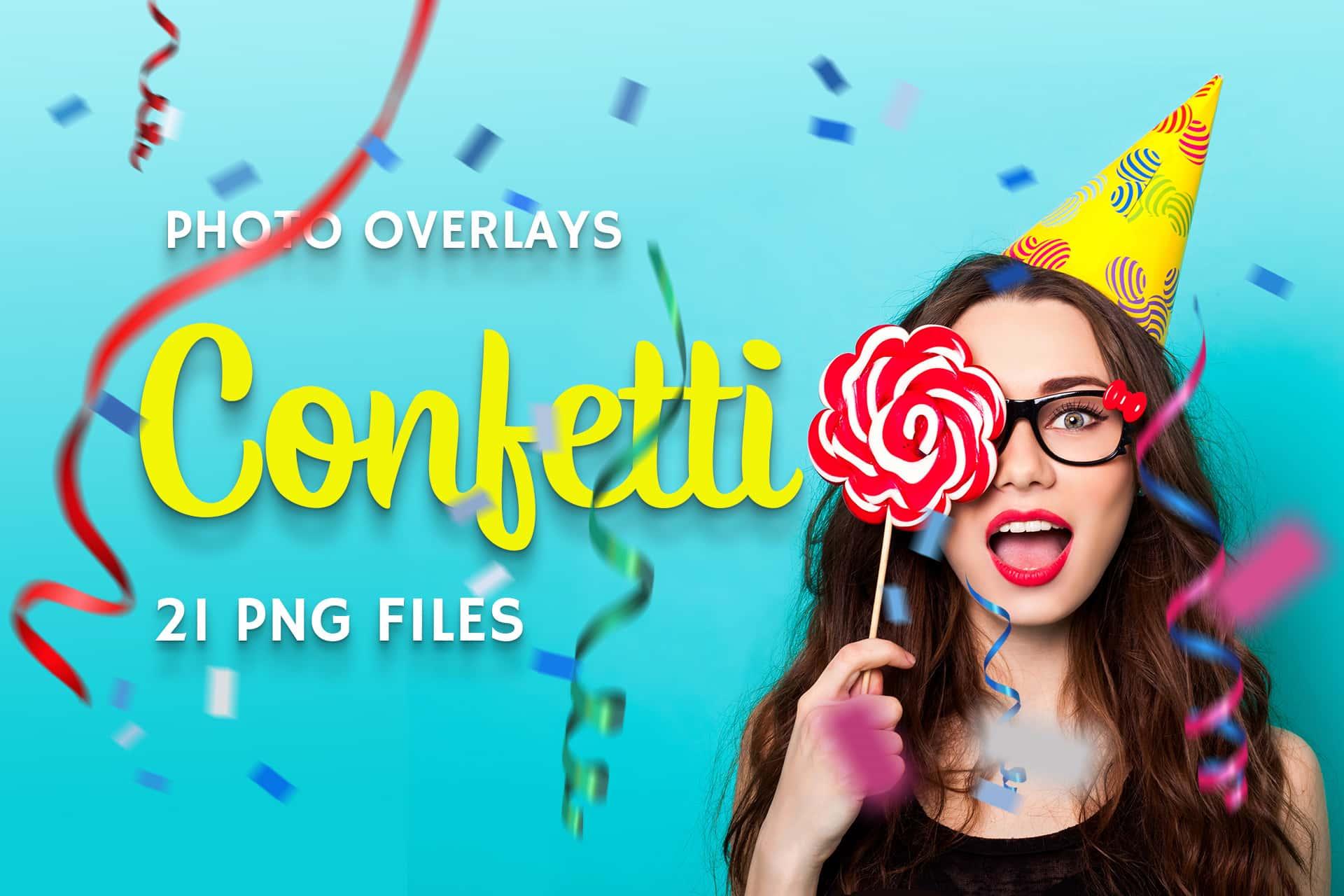 21 Confetti Photo Overlays example image 1