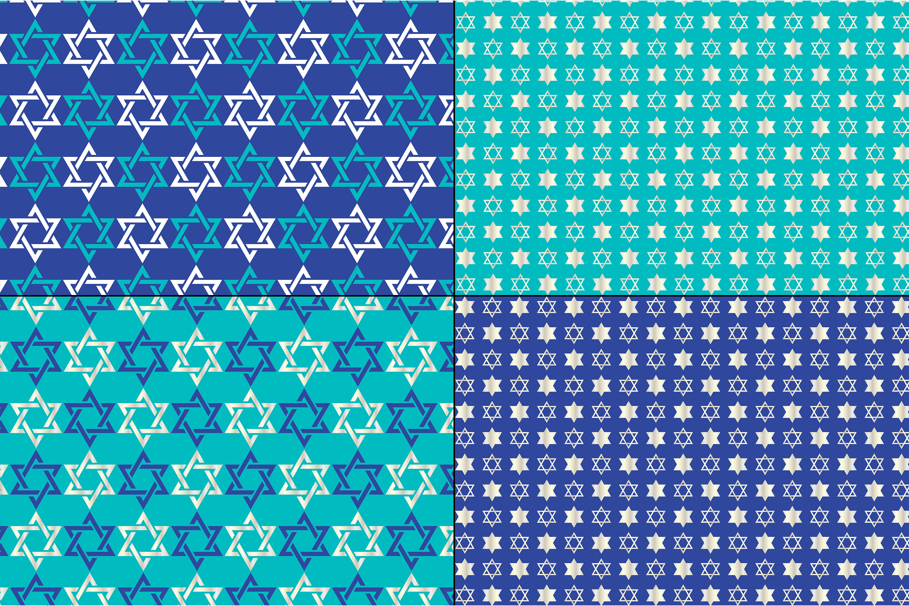 Silver Blue Chanukah Patterns example image 3