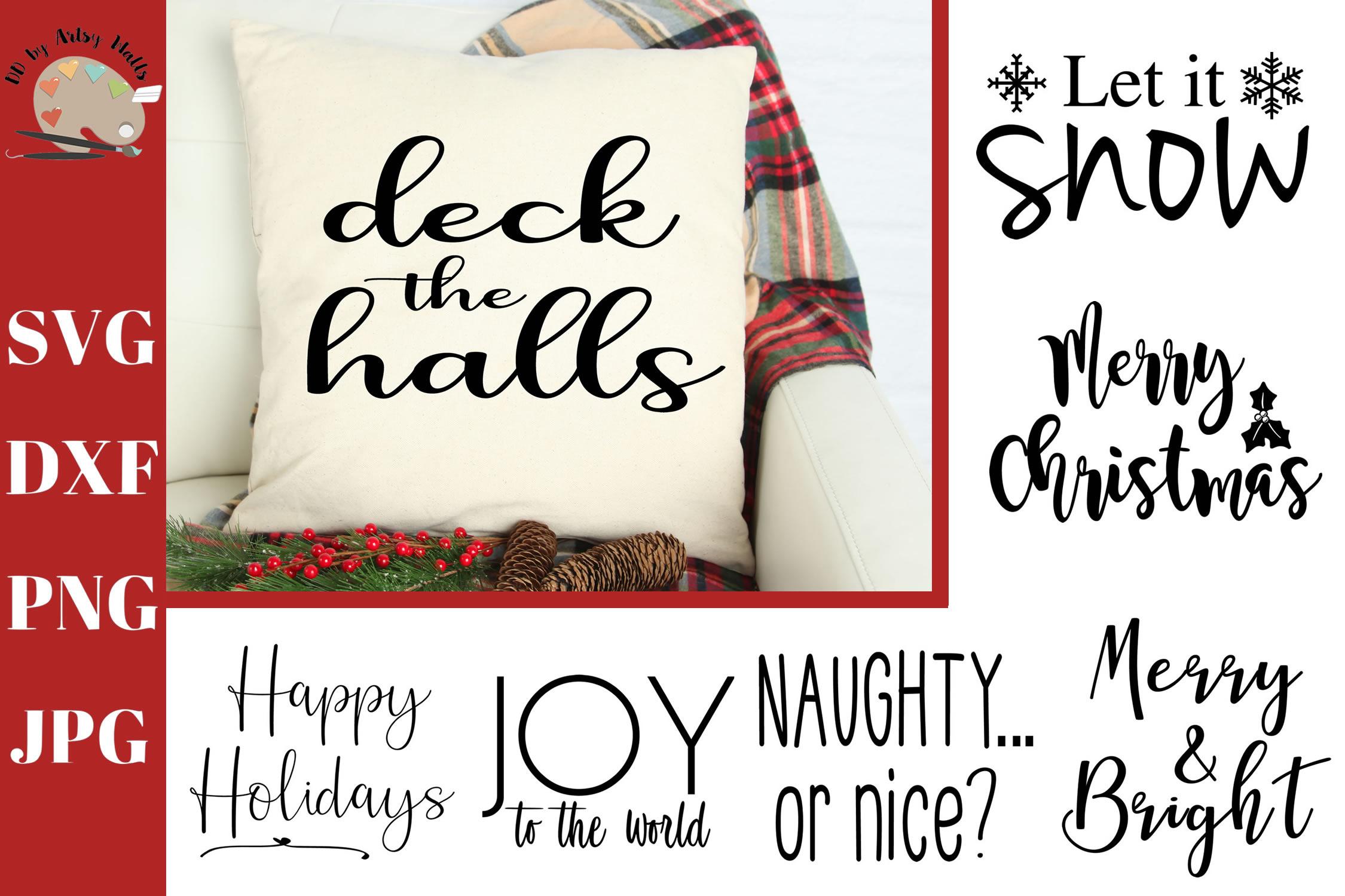 Christmas Sayings Mini Bundle, Christmas signs svg cut file example image 1