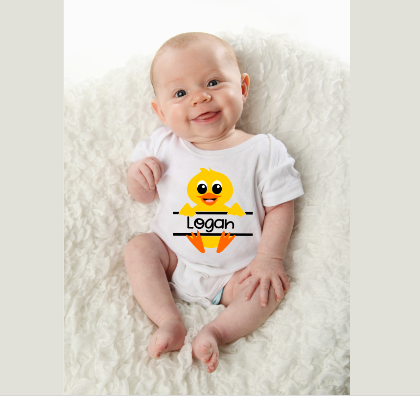 Baby Duck Personalize Design BOY - An Easter SVG example image 2
