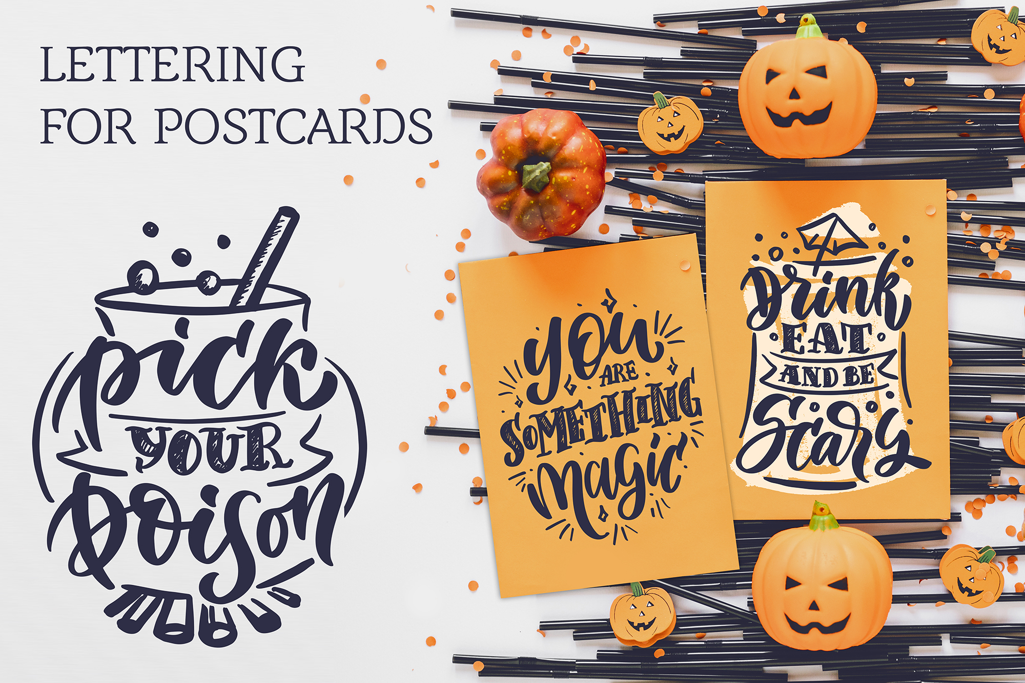 Halloween lettering set example image 5
