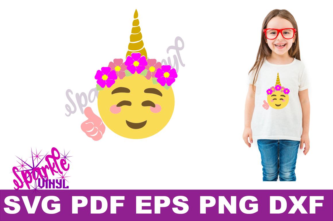 Unicorn emoji svg, Emoji Unicorn Svg files for cricut or Silhouette, Cut file, dxf pdf eps, printable, Unicorn svg, Emoji Svg, cutting files example image 2