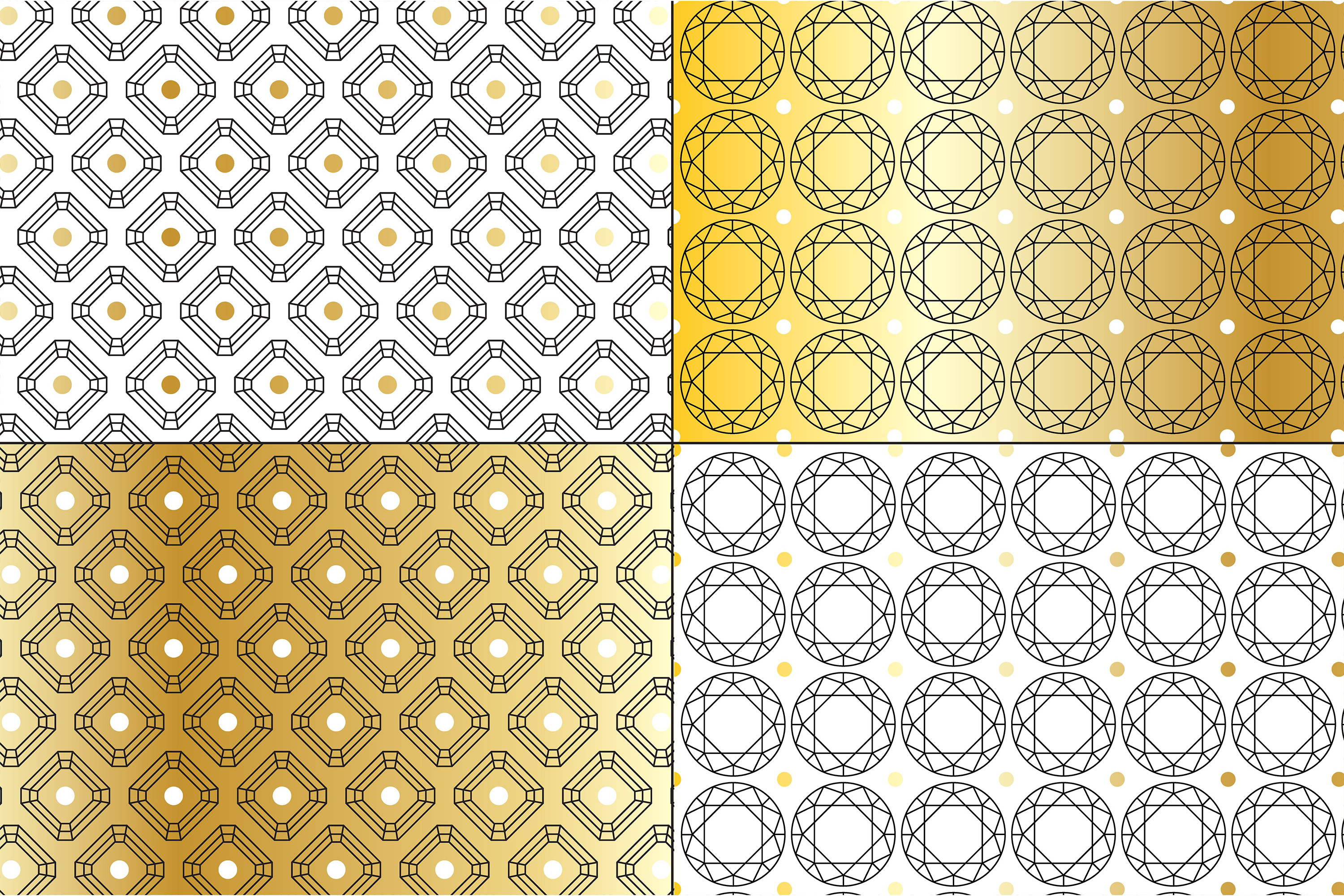 Gold Deco Patterns example image 3