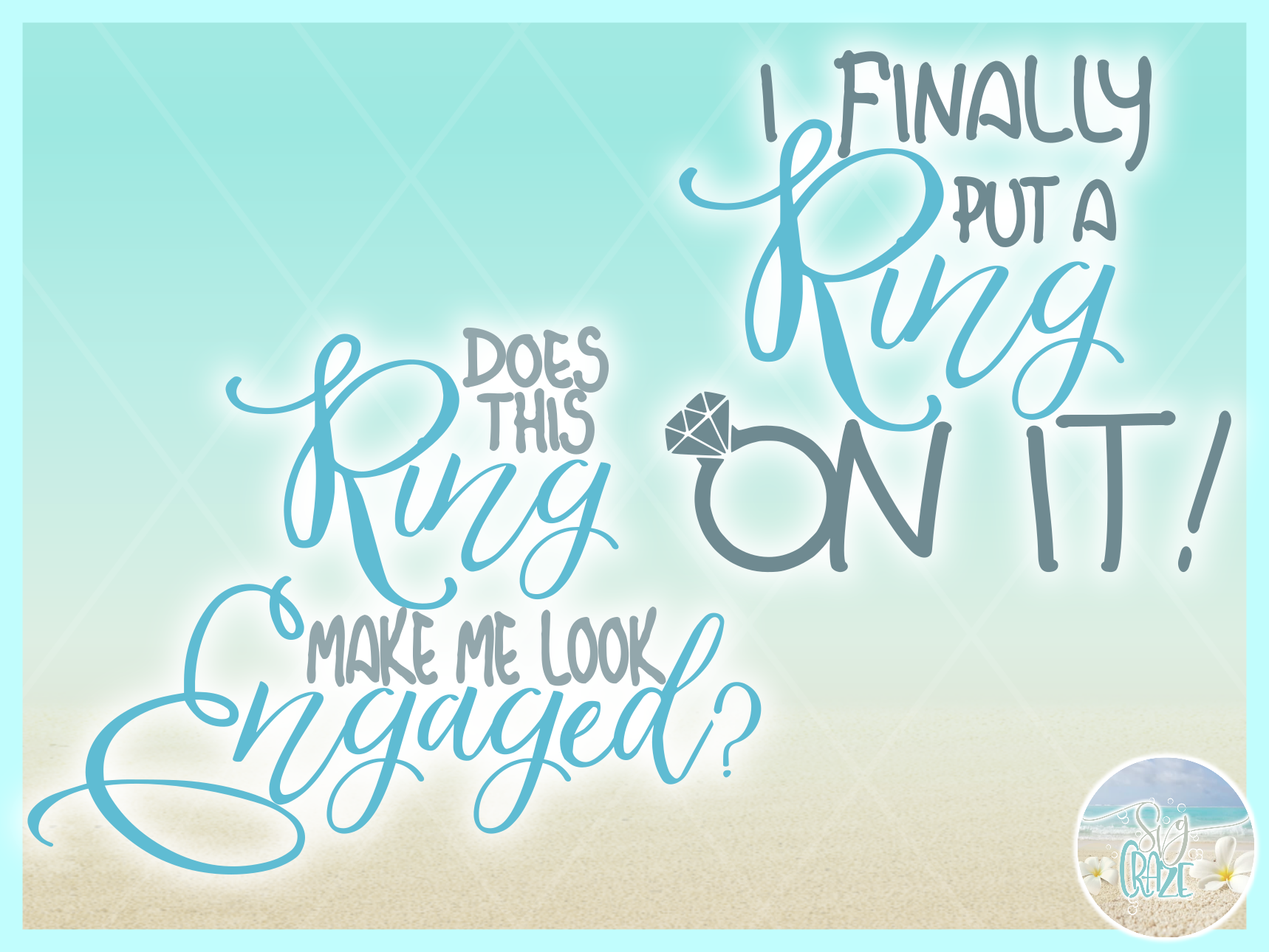 Wedding Vows Rings Engagement Marriage Bride Groom SVG example image 3