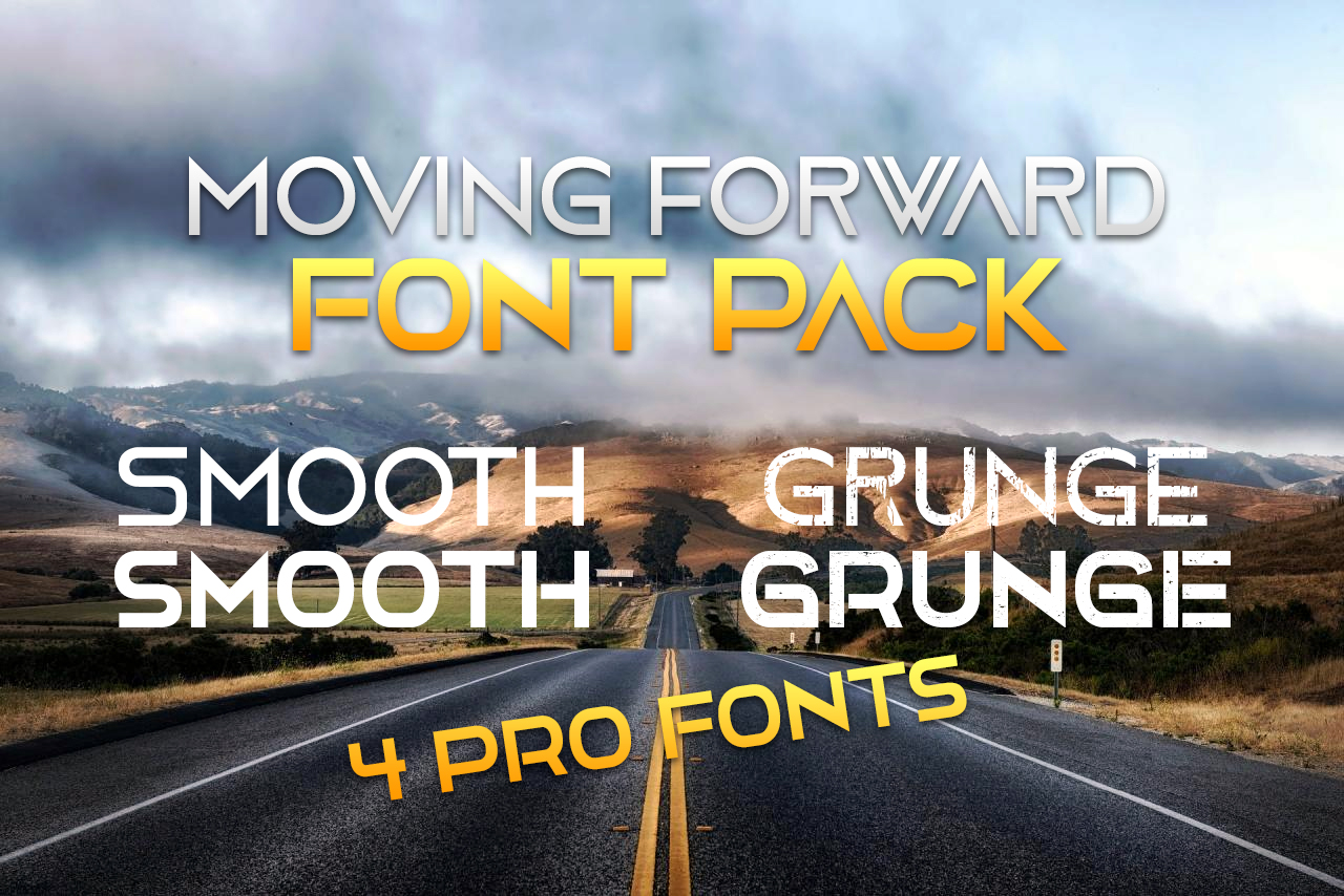 4 Moving Forward font Pack example image 1