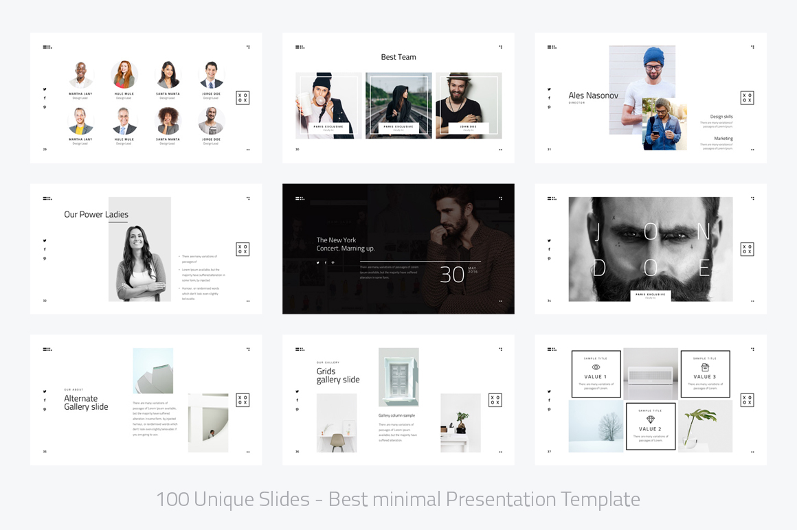 XOXO-Minimal Powerpoint Template example image 5