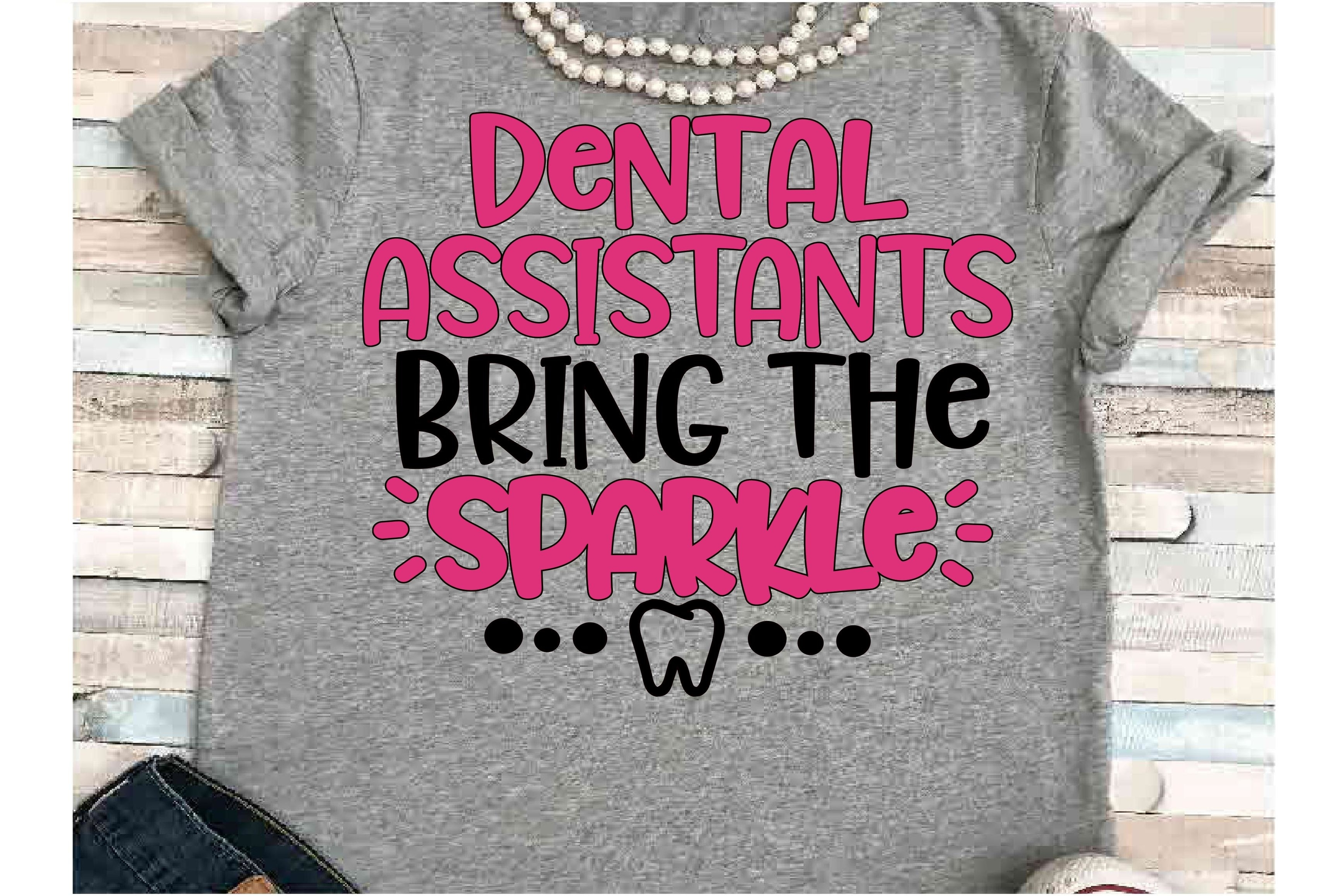 Dental Assistant SVG DXF JPEG Silhouette Cameo Cricut teeth example image 1