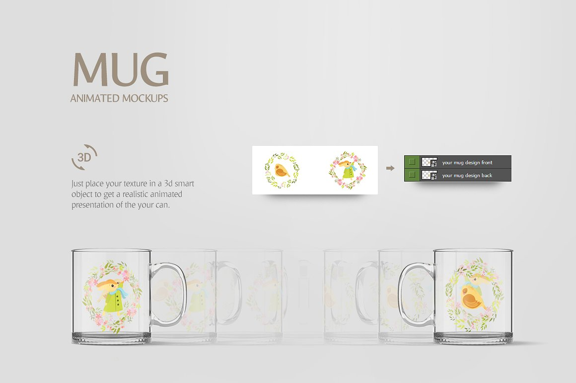 Glass Mug Animated Mockup example image 6