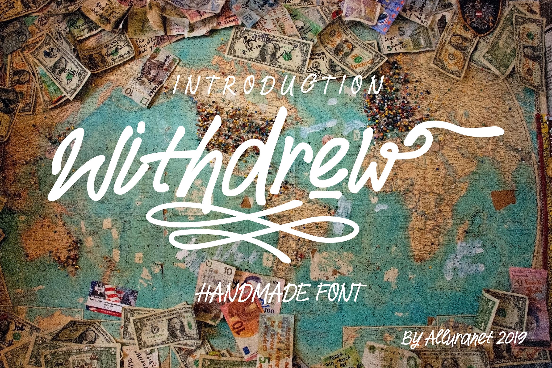 Withdrew - Modern Script example image 1