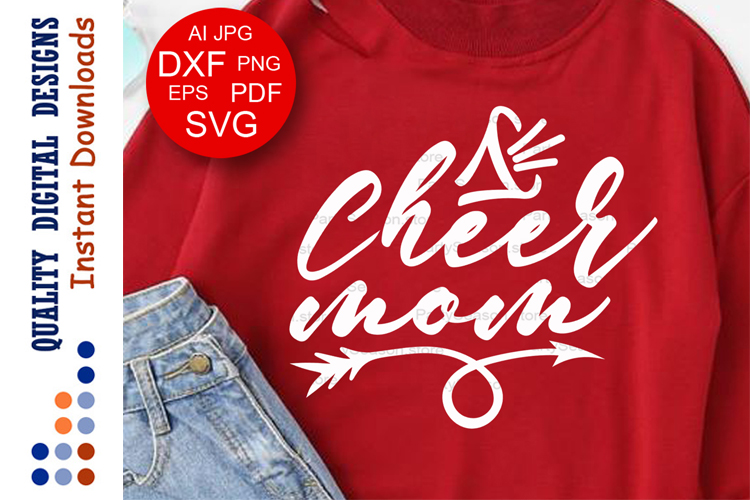 Cheer mom svg quote Sport decor Sports shirts example image 1