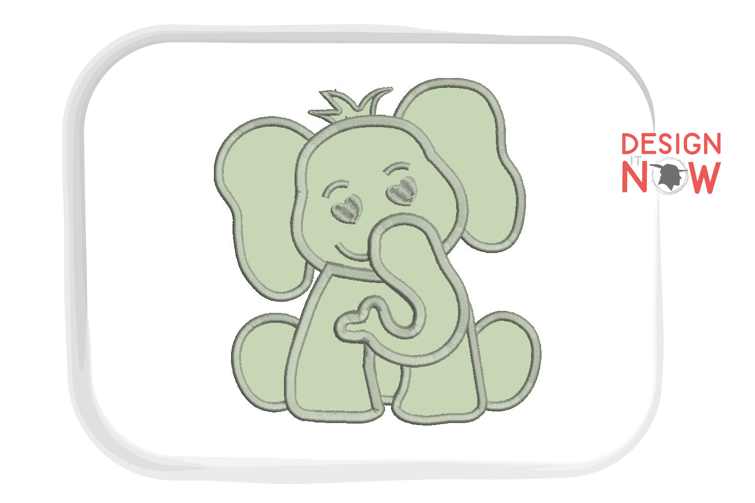 Elephant Applique Embroidery Design, Elephant Embroidery example image 2
