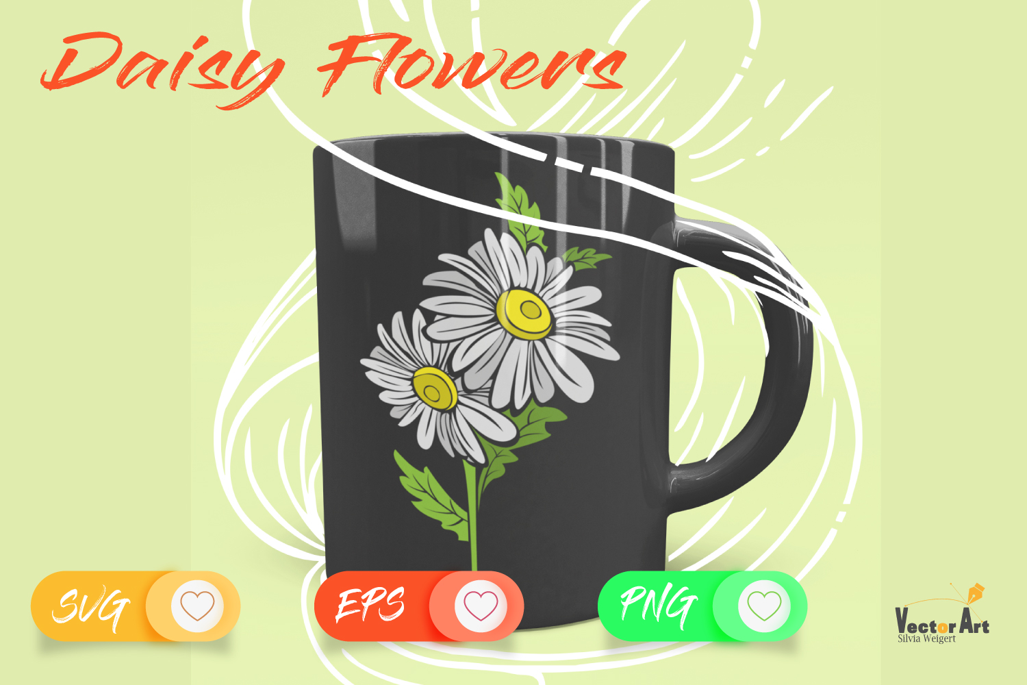 Daisy Flower- Cut File with 2 Layers example image 4