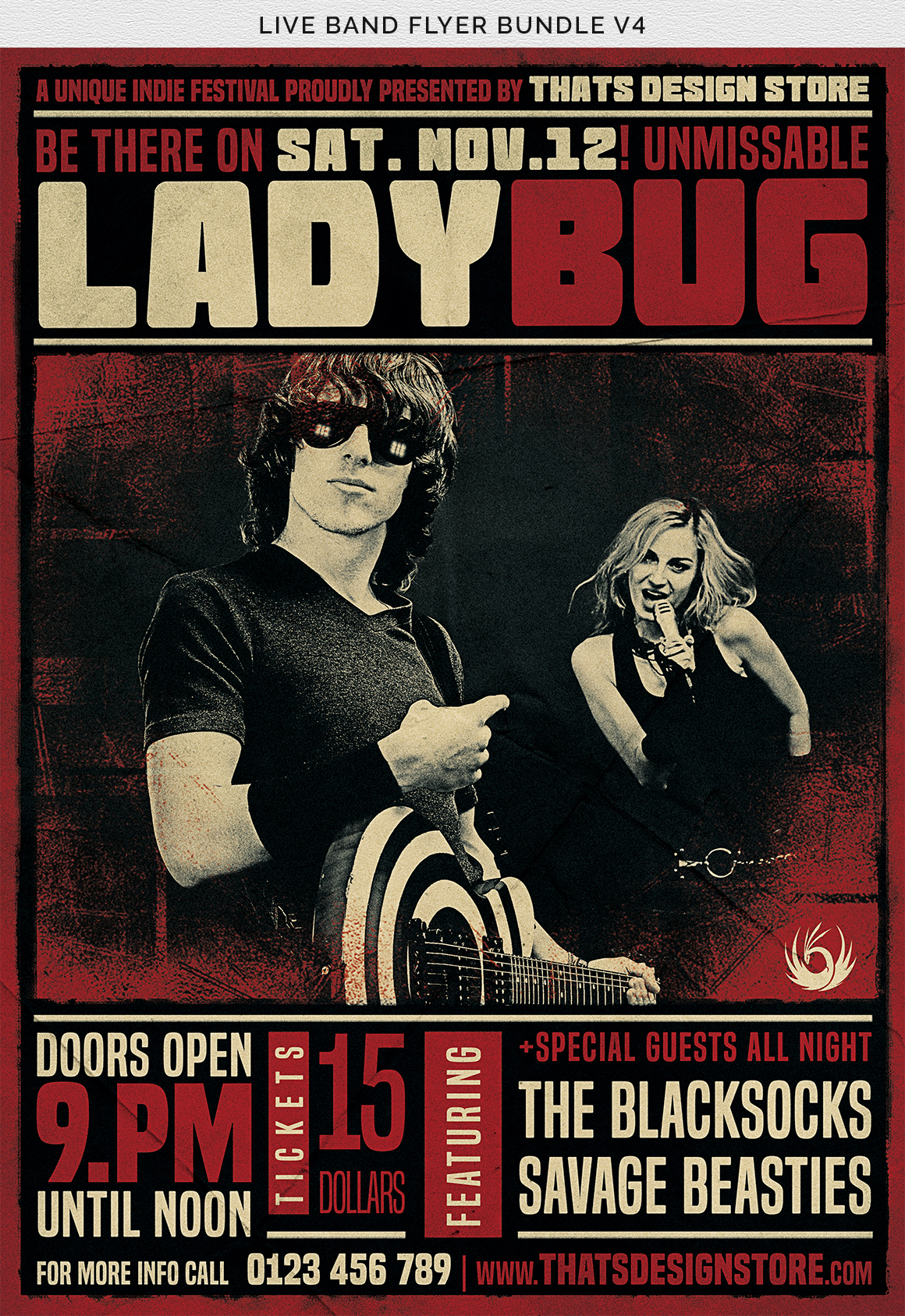 Live Band Flyer Bundle V4 example image 15