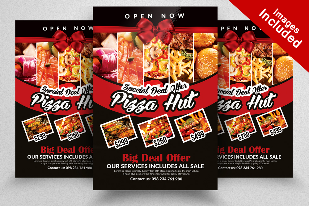 10 Restaurant Flyer Template Bundle example image 10