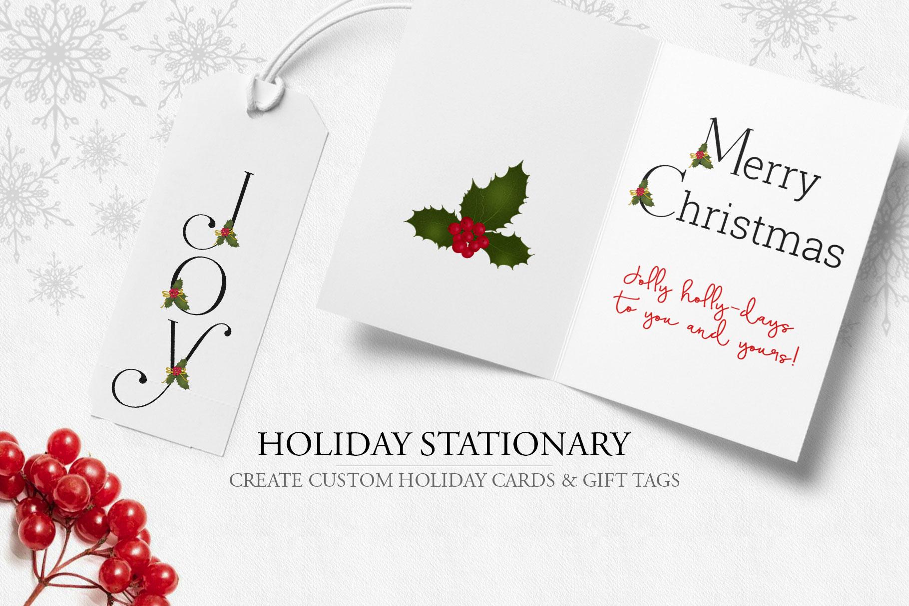 Holiday Alphabet Design Set example image 4