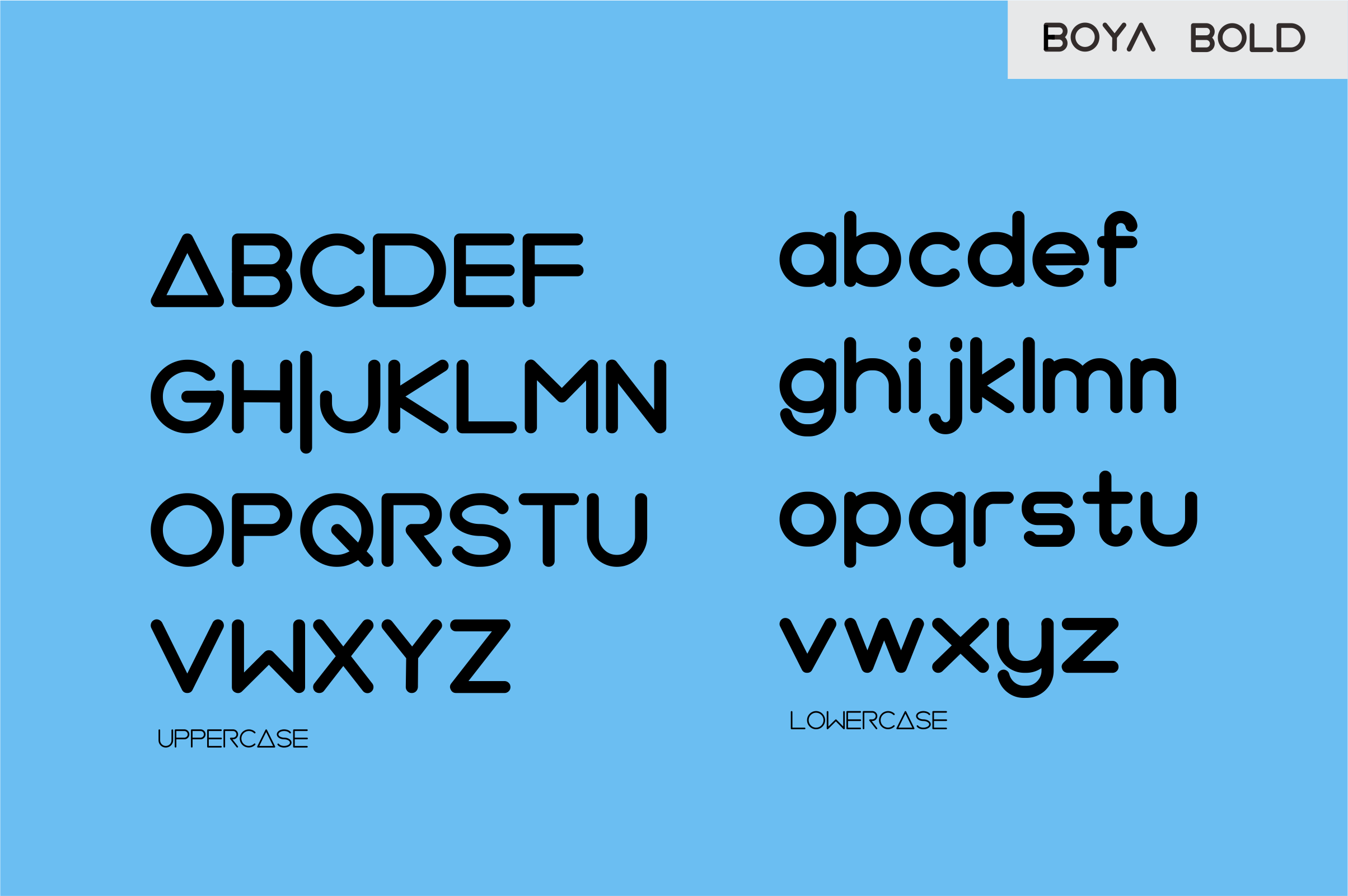 BOYA (rounded Font) example image 5